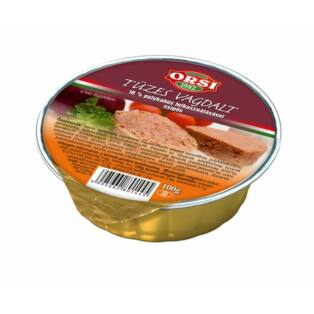ORSI Tüzes Vagdalt 10% Pulykahússal 100g (20db/#)