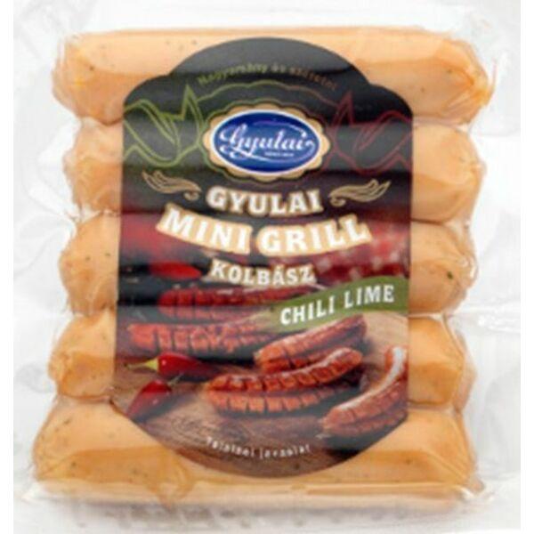 Mini grill kolbász chilis limes 150g Gyula