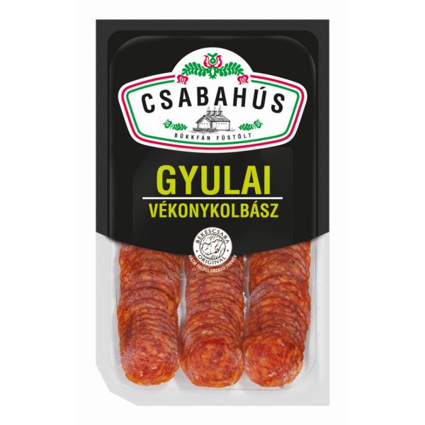 Gyulai vékonykolbász szel. vg. 75g (10db/#) Csabahús