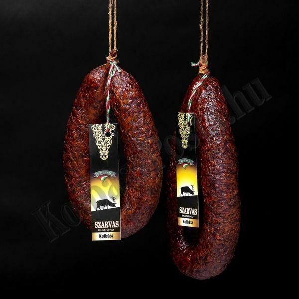 Füstölt szarvas kolbász kb.350g/pár Szilváshús